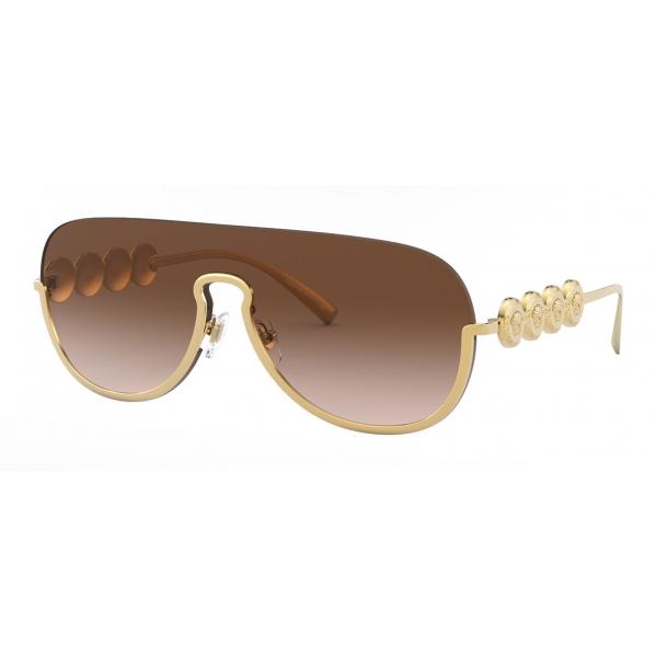 Versace - Occhiale da Sole Signature Medusa Visor - Oro - Occhiali da Sole - Versace Eyewear