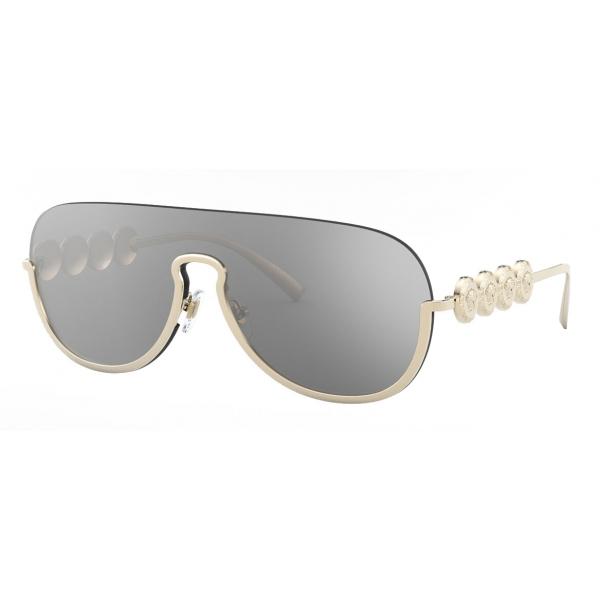 Versace - Occhiale da Sole Signature Medusa Visor - Oro Chiaro - Occhiali da Sole - Versace Eyewear