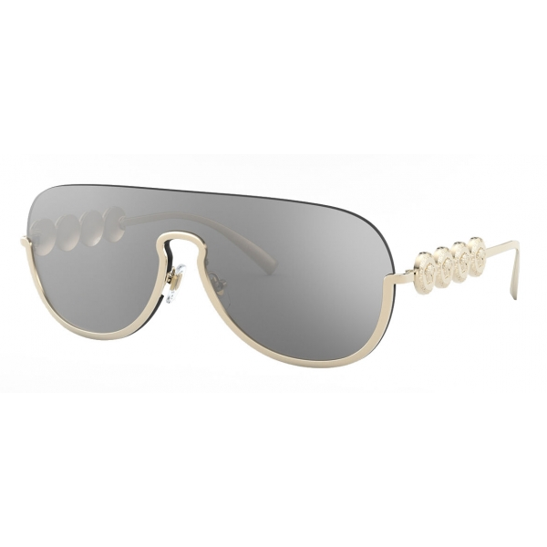 Versace - Sunglasses Signature Medusa Visor - Pale Gold - Sunglasses - Versace Eyewear