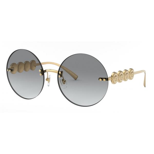 Versace - Occhiale da Sole Rotondi Signature Medusa - Oro - Occhiali da Sole - Versace Eyewear