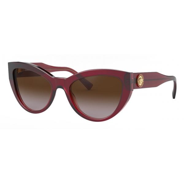 Versace - Occhiale da Sole Cat-Eye Medusa Crystal - Bordeaux - Occhiali da Sole - Versace Eyewear