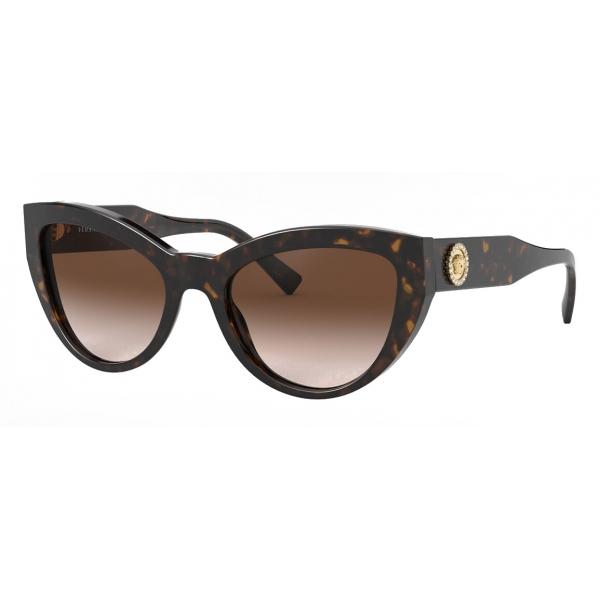 Versace - Occhiale da Sole Cat-Eye Medusa Crystal - Havana - Occhiali da Sole - Versace Eyewear