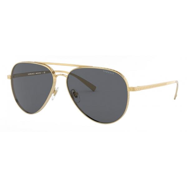 Versace - Occhiale da Sole Pilot con Greca - Oro - Occhiali da Sole - Versace Eyewear