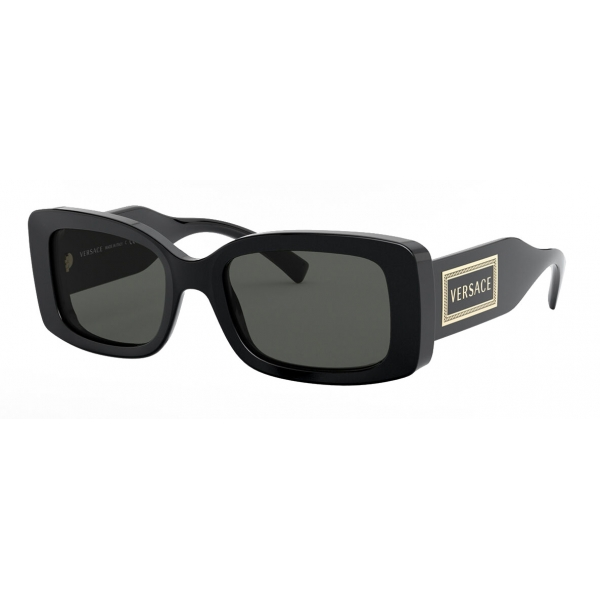 Versace - Occhiale da Sole con Logo 90s Vintage - Nero - Occhiali da Sole - Versace Eyewear