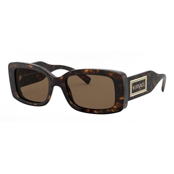 Versace - Occhiale da Sole con Logo 90s Vintage - Havana - Occhiali da Sole - Versace Eyewear