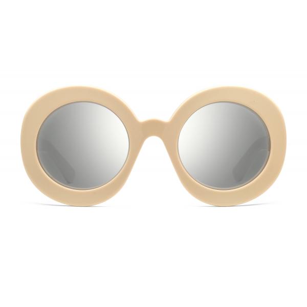 Gucci - Occhiali da Sole Rotondi in Acetato - Avorio - Gucci Eyewear