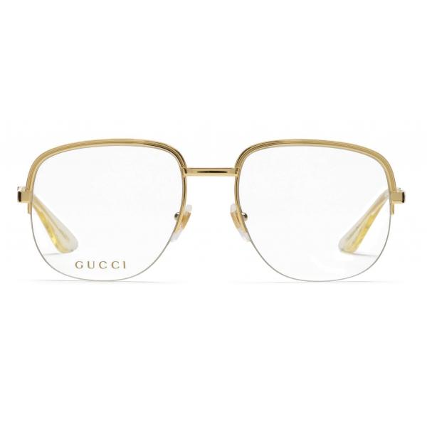 Gucci - Occhiali da Sole Quadrati in Metallo - Oro - Gucci Eyewear