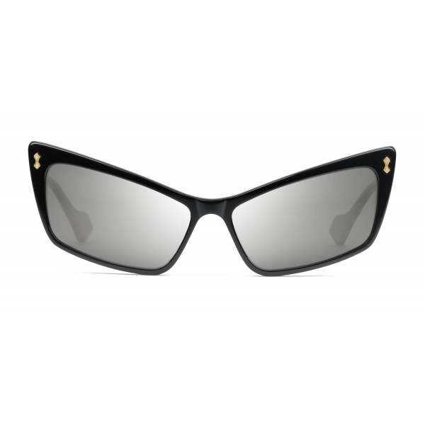 Gucci - Rectangular Acetate Sunglasses - Shiny Black - Gucci Eyewear