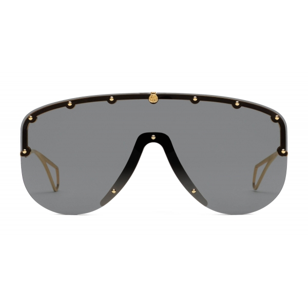 Gucci - Mask Sunglasses - Black Gold - Gucci Eyewear