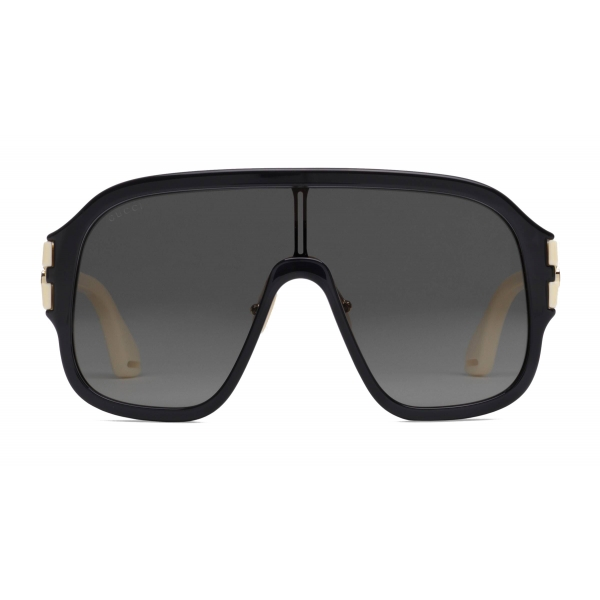 Gucci - Oversize Mask Sunglasses - Black - Gucci Eyewear
