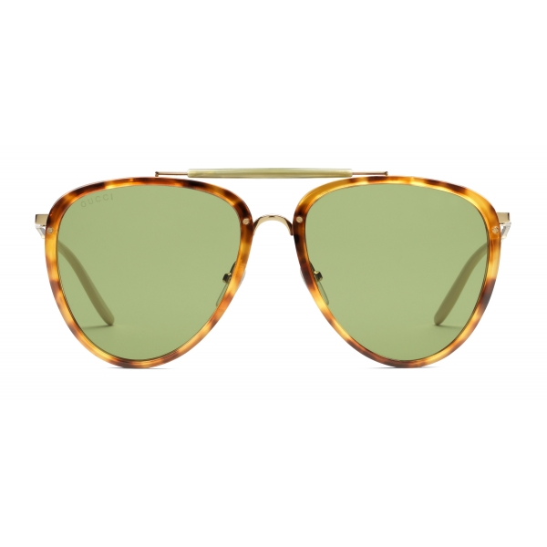 Gucci - Aviator Acetate and Metal Sunglasses - Tortoiseshell - Gucci Eyewear