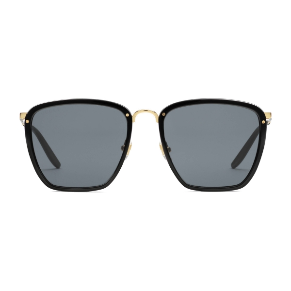 Gucci - Square Acetate and Metal Sunglasses - Black Gold - Gucci Eyewear