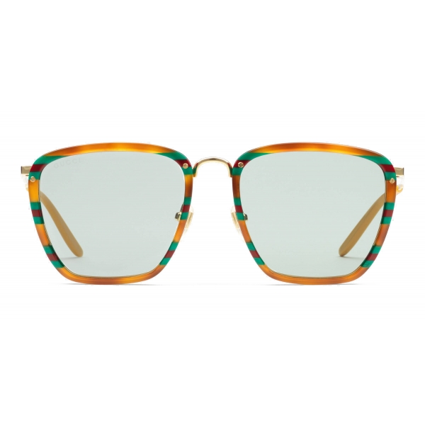 Gucci - Square Acetate and Metal Sunglasses - Tortoiseshell - Gucci Eyewear