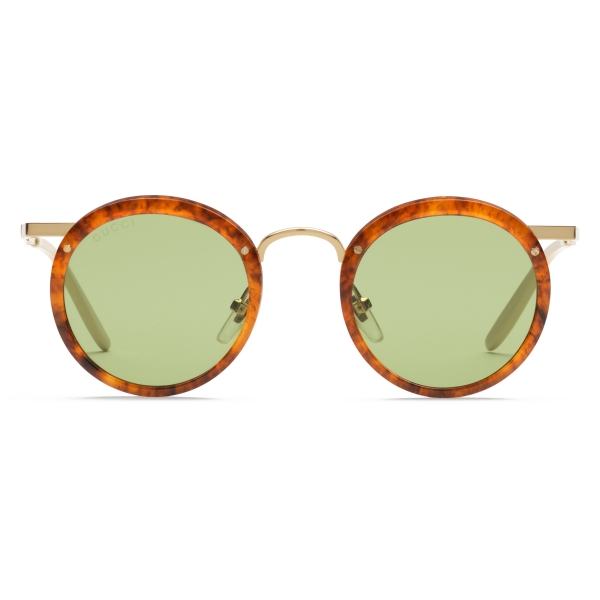 Gucci - Round Acetate and Metal Sunglasses - Tortoiseshell - Gucci Eyewear