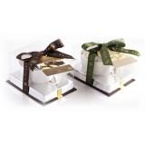 Vincente Delicacies - Paste di Mandorla Sicilia Pistacchio Ricoperte di Finissimo Cioccolato Bianco - Ninfea