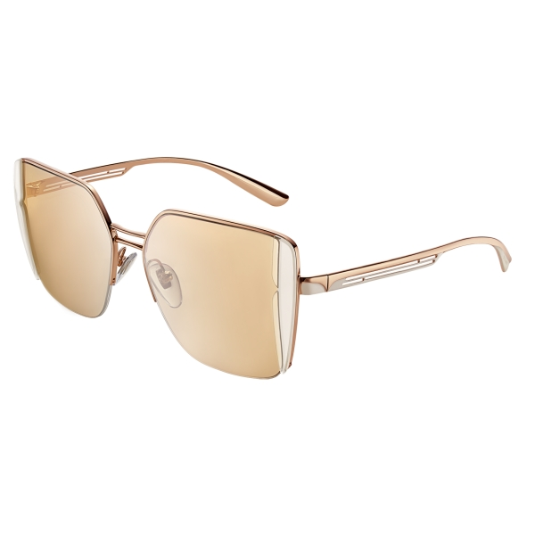 Bulgari - B.Zero1 - B.Purebright Squared Sunglasses - Pink - B.Zero1 Collection - Sunglasses - Bulgari Eyewear