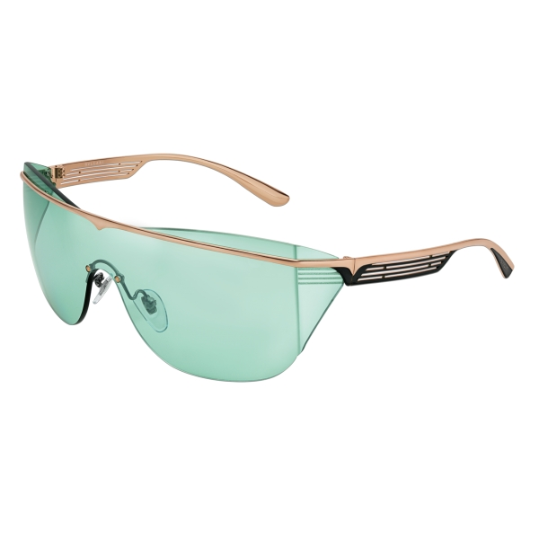 Bulgari - B.Zero1 - Occhiali da Sole a Mascherina B.Supercurve - Verde - B.Zero1 Collection - Occhiali da Sole - Bulgari Eyewear