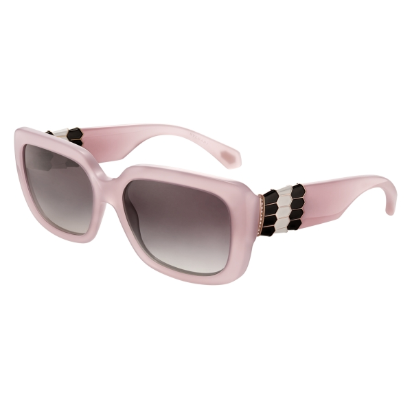 Bulgari - Serpenti - Back-to-Scale Rectangular Sunglasses - Pink - Serpenti Collection - Sunglasses - Bulgari Eyewear