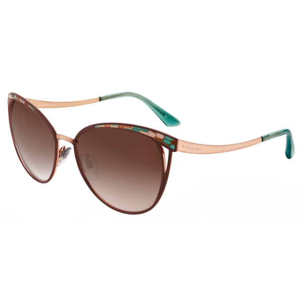 Bulgari - Serpentine - Cat Eye Sunglasses - Brown - Serpenti Collection - Sunglasses - Bulgari Eyewear