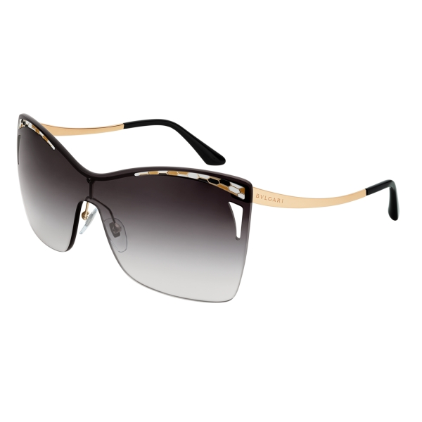 Bulgari - Serpenti - Eye-Bite Shield Sunglasses - Black - Serpenti Collection - Sunglasses - Bulgari Eyewear