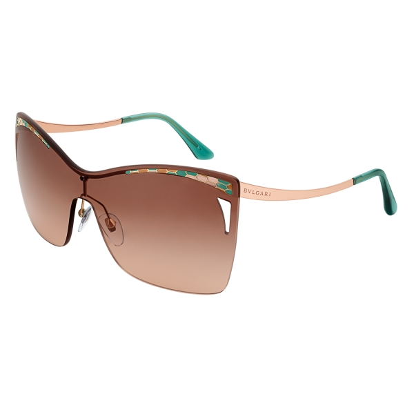 Bulgari - Serpenti - Eye-Bite Shield Sunglasses - Orange - Serpenti Collection - Sunglasses - Bulgari Eyewear