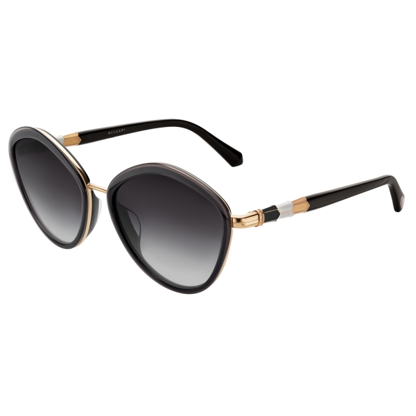 Bulgari - Serpenti - Rounded Sunglasses - Black - Serpenti Collection - Sunglasses - Bulgari Eyewear