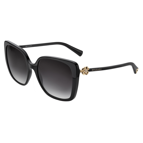 Bulgari - Fiorever - Squared Sunglasses - Black - Fiorever Collection - Sunglasses - Bulgari Eyewear