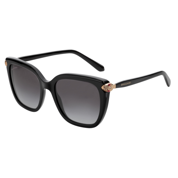 Bulgari - Serpenti - Squared Sunglasses - Black - Serpenti Collection - Sunglasses - Bulgari Eyewear
