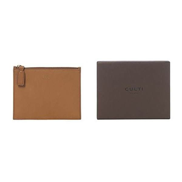 Culti Milano - Leather Pochette - Cognac - Small - Fashion - Room Fragrances - Fragrances - Luxury