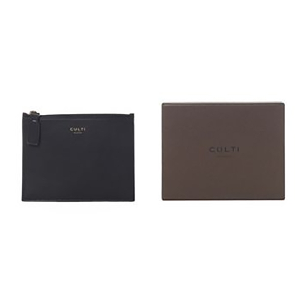 Culti Milano - Leather Pochette - Black - Small - Fashion - Room Fragrances - Fragrances - Luxury