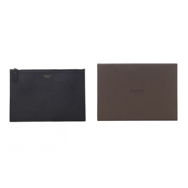 Culti Milano - Leather Pochette - Black - Medium - Fashion - Room Fragrances - Fragrances - Luxury