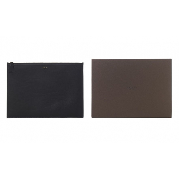 Culti Milano - Leather Pochette - Black - Large - Fashion - Room Fragrances - Fragrances - Luxury