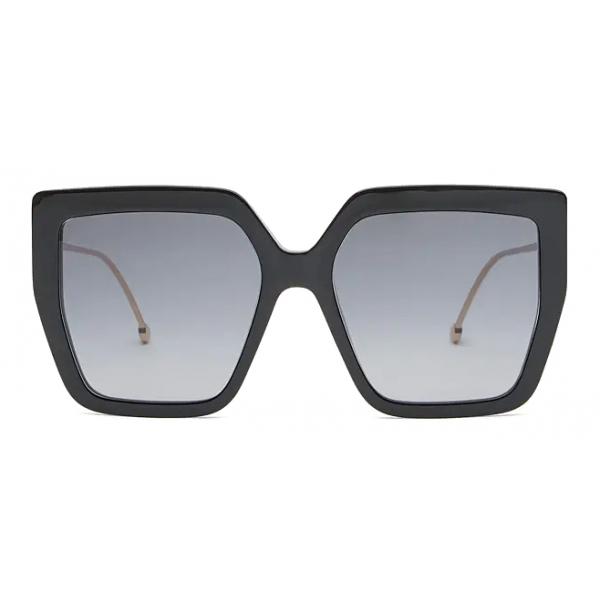 Fendi - F is Fendi - Occhiali da Sole Quadrati Oversize - Nero - Occhiali da Sole - Fendi Eyewear