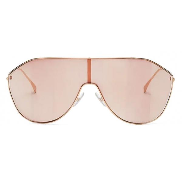 Fendi - FF Family - Occhiali da Sole Maschera - Rosa - Occhiali da Sole - Fendi Eyewear