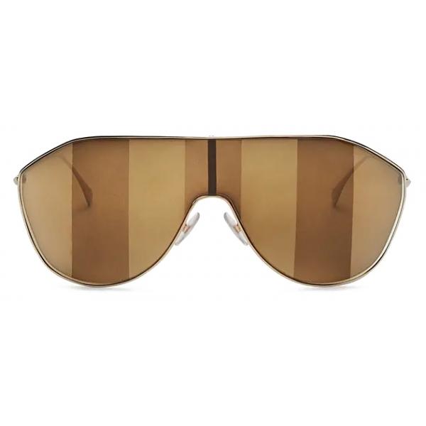 Fendi - FF Family - Occhiali da Sole Maschera - Marrone - Occhiali da Sole - Fendi Eyewear