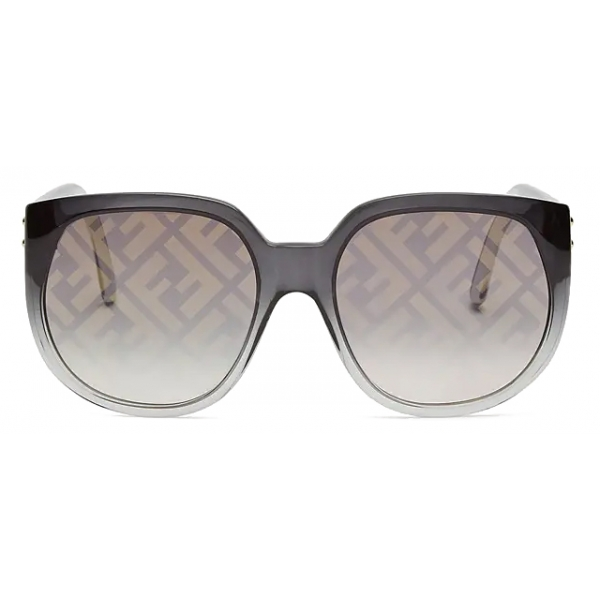 Fendi - Fendi Dawn - Occhiali da Sole Rotondi Oversize - Nero - Occhiali da Sole - Fendi Eyewear