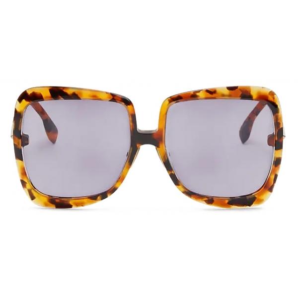Fendi - Promeneye - Occhiali da Sole Squadrata Oversize - Havana Chiaro - Occhiali da Sole - Fendi Eyewear