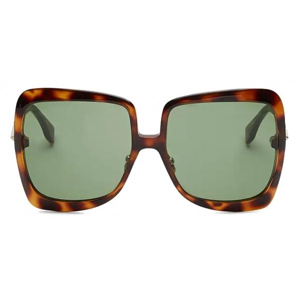 Fendi - Promeneye - Occhiali da Sole Squadrata Oversize - Havana Scuro - Occhiali da Sole - Fendi Eyewear