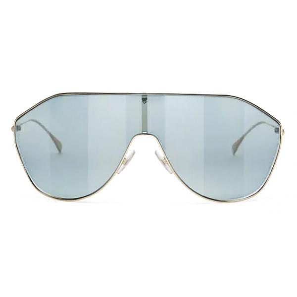 Fendi - FF Family - Occhiali da Sole Maschera - Oro Azzurro - Occhiali da Sole - Fendi Eyewear