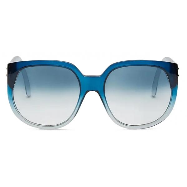 Fendi - Fendi Dawn - Occhiali da Sole Rotondi Oversize - Blu - Occhiali da Sole - Fendi Eyewear