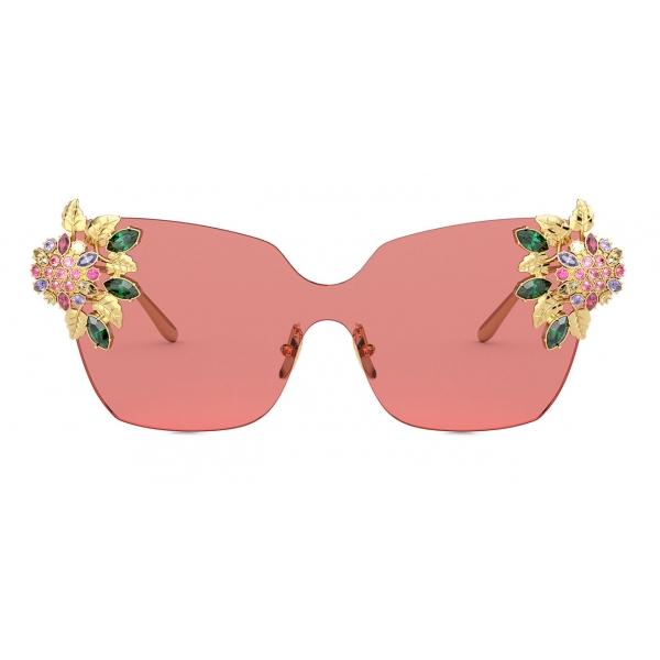Dolce & Gabbana - Occhiale da Sole Blooming - Rosso Oro - Dolce & Gabbana Eyewear