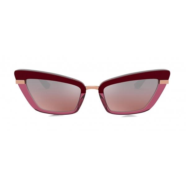 Dolce & Gabbana - Half Print Sunglasses - Burgundy - Dolce & Gabbana Eyewear