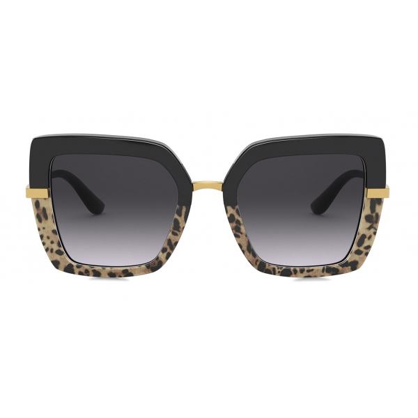 Dolce & Gabbana - Half Print Sunglasses - Black - Dolce & Gabbana Eyewear
