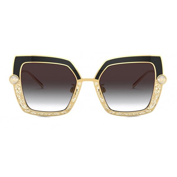 Dolce & Gabbana - Filigree & Pearls Sunglasses - Black - Dolce & Gabbana Eyewear