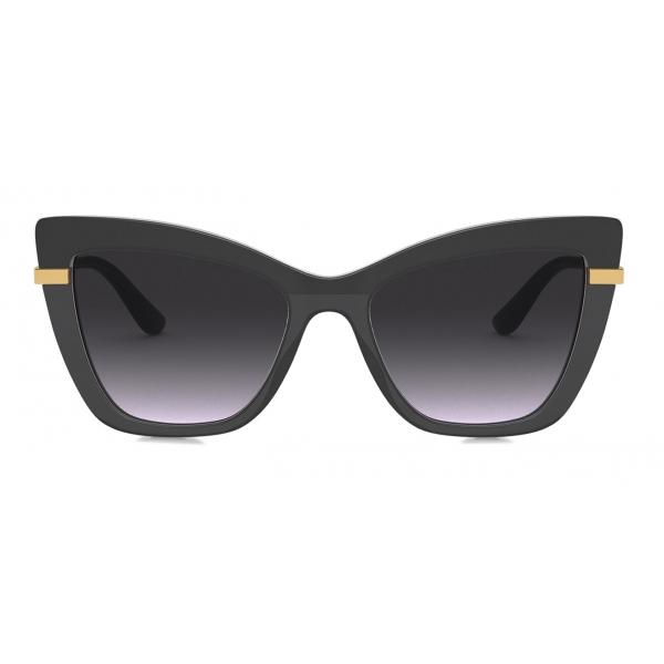 Dolce & Gabbana - Occhiale da Sole Half Print - Nero - Dolce & Gabbana Eyewear