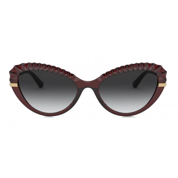 Dolce & Gabbana - Plisse Sunglasses - Burgundy - Dolce & Gabbana Eyewear