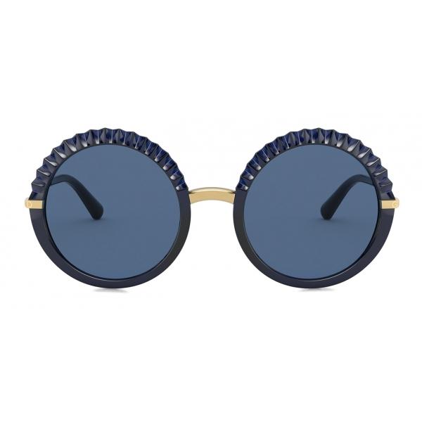Dolce & Gabbana - Occhiale da Sole Plisse - Blu - Dolce & Gabbana Eyewear