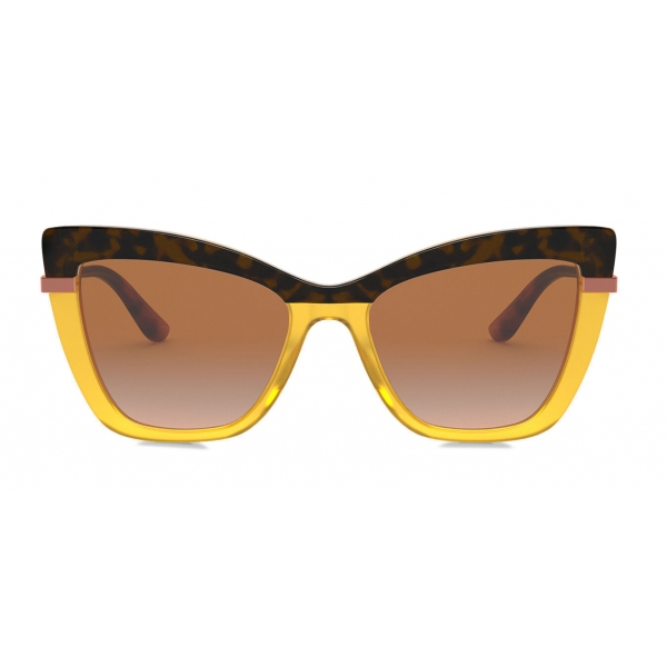 Dolce & Gabbana - Half Print Sunglasses - Havana Orange - Dolce & Gabbana Eyewear