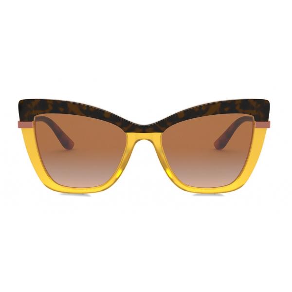 Dolce & Gabbana - Occhiale da Sole Half Print - Avana Arancione - Dolce & Gabbana Eyewear