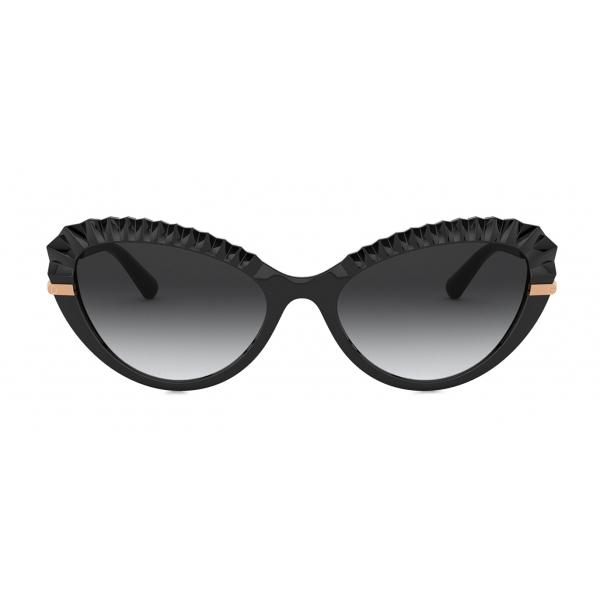 Dolce & Gabbana - Occhiale da Sole Plisse - Nero - Dolce & Gabbana Eyewear